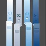 Modello piegato della striscia di carta. Quattro scelte con spazio per il vostro te Fotografia Stock Libera da Diritti