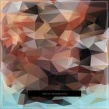 Modello poligonale astratto del fondo di vettore Fotografie Stock