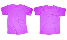 Modello porpora della maglietta Fotografia Stock