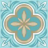 Modello portoghese della piastrella di ceramica di azulejo royalty illustrazione gratis