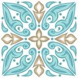 Modello portoghese della piastrella di ceramica di azulejo illustrazione di stock