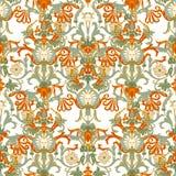 Modello portoghese della piastrella di ceramica di azulejo Ornamento piega etnico Ornamento tradizionale Mediterraneo Terraglie i royalty illustrazione gratis