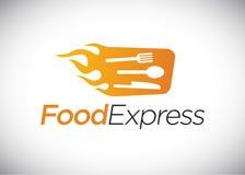 Modello preciso di logo dell'alimento illustrazione di stock