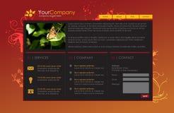 Modello professionale di Web site Immagini Stock Libere da Diritti