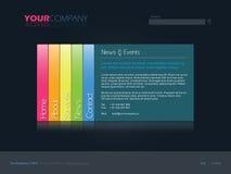 Modello professionale di Web site Immagine Stock