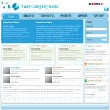 Modello professionale di Web site Immagini Stock