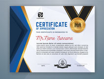 Modello professionale moderno del certificato illustrazione di stock