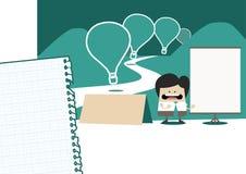 Modello pronto per l'uso per PowerPoint o presentazione principale o infographics Immagini Stock