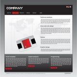 Modello pulito di disegno di Web site Immagini Stock Libere da Diritti