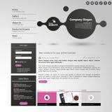 Modello pulito moderno del sito Web Immagine Stock