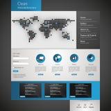 Modello pulito moderno del sito Web Fotografia Stock