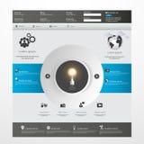 Modello pulito moderno del sito Web Fotografie Stock Libere da Diritti