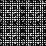 Modello punteggiato di vettore senza cuciture Fondo geometrico creativo con i cerchi Struttura di lerciume con attrito, le crepe  Fotografie Stock Libere da Diritti