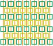 Modello quadrato arancio e verde Immagini Stock