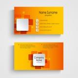 Modello quadrato arancio moderno del biglietto da visita royalty illustrazione gratis