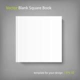 Modello quadrato in bianco del libro della copertura su fondo grigio illustrazione di stock