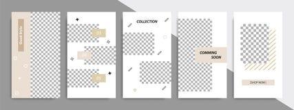 Modello quadrato minimo moderno di forma nel colore marrone del raso molle con la struttura Modello di pubblicità delle società p royalty illustrazione gratis