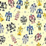 Modello quadrato senza cuciture dei robot Immagine Stock Libera da Diritti