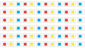 Modello quadrato variopinto semplice Fotografie Stock Libere da Diritti
