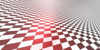 Modello a quadretti del fondo di struttura 3D nella prospettiva Immagini Stock