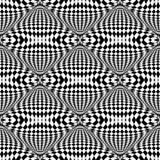 Modello a quadretti di illusione senza cuciture di progettazione Fotografie Stock