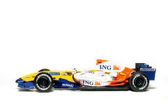 Modello raccoglibile del giocattolo, gruppo 2007 di Renault F1 Immagini Stock Libere da Diritti