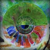 Modello radiale dell'estratto di colore Fotografia Stock Libera da Diritti