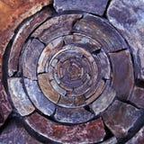 Modello radiale della roccia Fotografie Stock