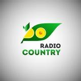 Modello radiofonico ecologico di logo illustrazione di stock