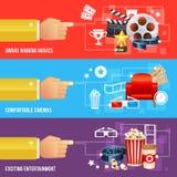 Modello realistico del manifesto di film del cinema Immagini Stock Libere da Diritti