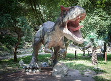 Modello realistico dell'allosauro del dinosauro Fotografia Stock