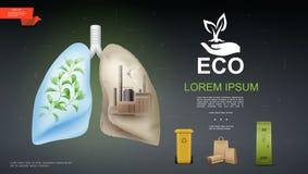 Modello realistico della natura e di Eco illustrazione vettoriale