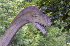 Modello realistico della testa del dinosauro Fotografie Stock Libere da Diritti