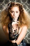 Modello redheaded alla moda Fotografia Stock Libera da Diritti