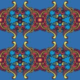 Modello repited colorato in scaletta d'annata immagine stock libera da diritti