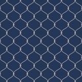 Modello a rete senza cuciture della corda nautica su fondo blu scuro Royalty Illustrazione gratis