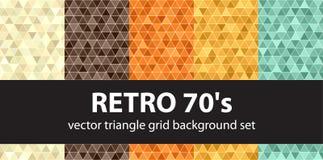 Modello retro 70s stabilito del triangolo Fotografia Stock Libera da Diritti