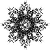 Modello riccio di colore nero royalty illustrazione gratis