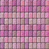 Modello in rilievo senza cuciture della pavimentazione delle piastrelle di ceramica rosa e beige Fotografia Stock Libera da Diritti