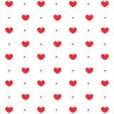 Modello ripetibile del cuore, fondo del cuore Fotografia Stock Libera da Diritti