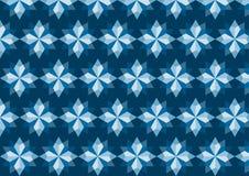 Modello romboide blu astratto su fondo blu scuro Fotografia Stock