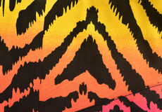 Modello rosa, arancio, giallo della zebra Immagini Stock Libere da Diritti