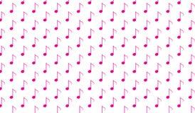 Modello rosa astratto moderno semplice della nota di musica Fotografia Stock