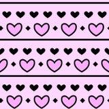 Modello rosa del cuore con fondo Immagini Stock Libere da Diritti