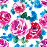 Modello rosa dell'acquerello Fotografie Stock