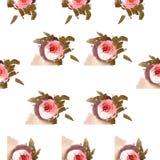Modello rosa delle rose dell'acquerello Immagine Stock Libera da Diritti