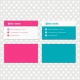 Modello rosa e blu di progettazione di biglietto da visita per l'identità corporativa della società Fotografie Stock Libere da Diritti