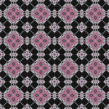 Modello rosa e nero del fiore del quadrato fotografia stock libera da diritti