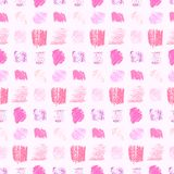 Modello rosa pastello leggero dei quadrati di lerciume di colori illustrazione vettoriale