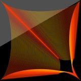 Modello rosso arancio dell'estratto del ` s dello Spirograph fotografie stock libere da diritti